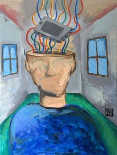 Acrylic, Brain Phone, Mobile