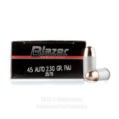 Blazer 45 Auto Ammo - 1000 Rounds of 230 Grain FMJ Ammunition #45ACP #45ACPAmmo #Blazer #BlazerAmmo #Blazer45ACP #FMJ