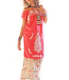 Rosa Mexican off shoulder embroidered dress from Aida Coronado :)