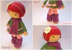 This is Nina, Amigurumi Doll  © By fANtastic