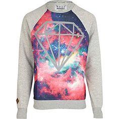Pink Beck & Hersey cosmic print sweatshirt