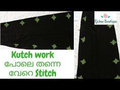 Kutch Type Design All Over Saree || Hand work in Saree || Saree Makeover || Hand Embroidery Design - YouTube Saree Embroidery Design, Hand Embroidery, Kutch Work, Simple Sarees, Work Sarees, Boutique Design, Type Design, Stitch, Youtube