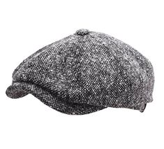 Stetson Mens Hatteras Donegal WV Newsboy Cap Size L Blackwhite433 ** See this great product. (This is an affiliate link) #WinterHatsforMen