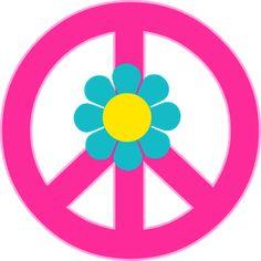 Flores y Símbolos del Clipart para Fiesta Hippy.