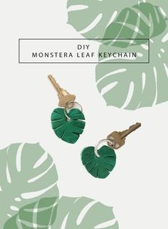 DIY: monstera leaf keychain