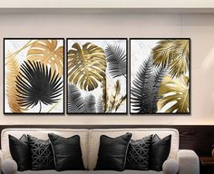 Wall Art Pictures, Canvas Pictures, Picture Wall Living Room, Rain Wallpapers, Gold Leaf Art, African Home Decor, Leaf Drawing, Art Inspiration Drawing, Panel Art