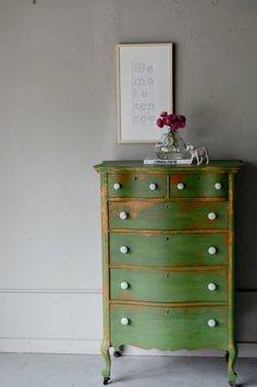 how about a chest of drawers in Barcelona Orange and Antibes Green (Chalk Paint™)