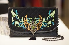 Clutch handbag with embroidery by JennyJeshko on Etsy