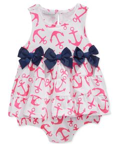 First Impressions Baby Girls' Anchor-Print Sunsuit, Only at Macy's - Shop All Baby - Kids & Baby - Macy's Baby Girl Fashion, Toddler Fashion, Kids Fashion, My Baby Girl, Baby Love, Baby Girls, Baby Sister, Toddler Girls, Little Girl Outfits