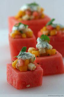 watermelon appitizers