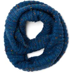 Pigments of My Imagination Circle Scarf in Blue ($25) found on Polyvore