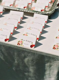 wedding escort card idea; photo: Katie Stoops