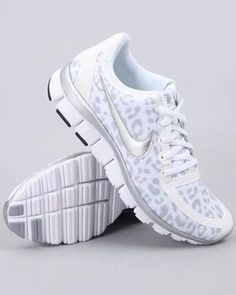 There is 1 tip to buy shoes, nike, leopard print, silver, tennis shoes. Nike Free 5.0, Nike Free Runs, Nike Outfits, Looks Style, Style Me, Gym Style, Cheetah Nikes, Pink Nikes, Grey Nikes
