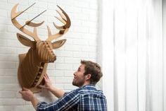 DIY Cardboard Taxidermy - Handmade Gifts for Guys