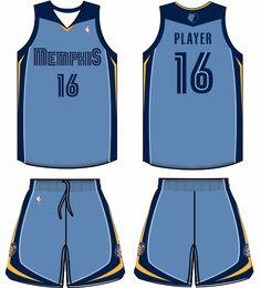 67d0a6ac4 Memphis Grizzlies Alternate Uniform 2009-2010 Memphis Grizzlies