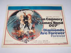 Diamonds are Forever Lobby Card Reproduction 11x14 Printed in England James Bond
