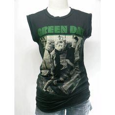 Green Day tshirt , short sleeve tshirt ,women t shirt , tank top ,vest... ($15) ❤ liked on Polyvore featuring tops, t-shirts, band tees, green day, band merch, band shirts, green top, vest t shirt, tee-shirt and checked shirt