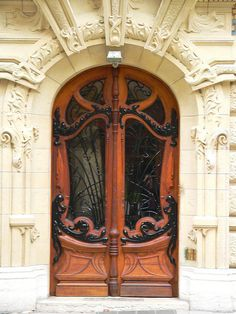 Gorgeous Art Nouveau doors