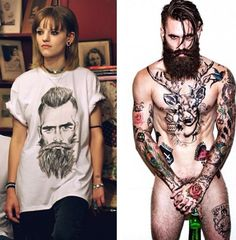 The Beard t-shirt @bypoststreet featuring a portrait of bearded model Ricki Hall. Click here to shop: http://by-post-street.myshopify.com/collections/collection-3/products/the-beard $85.00