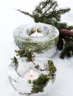 Create your own unique outdoor ice candle lights. Create your own unique outdoor ice candle lights. Danish Christmas, Modern Christmas Decor, Natural Christmas, Noel Christmas, Outdoor Christmas Decorations, Scandinavian Christmas, Winter Christmas, All Things Christmas, Magical Christmas