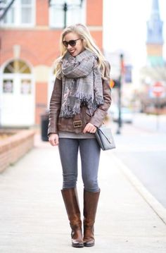 fall tall boots outfit, How to dress chic and warm in winter http://www.justtrendygirls.com/how-to-dress-chic-and-warm-in-winter/