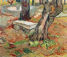 The Stone Bench in the Garden at Saint-Paul Hospital, Vincent van Gogh