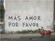 Más amor por favor. Acción poética