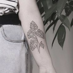 What does plant tattoo mean? We have plant tattoo ideas, designs, symbolism and we explain the meaning behind the tattoo. Subtle Tattoos, Pretty Tattoos, Beautiful Tattoos, Cool Tattoos, Awesome Tattoos, Tatoos, Mini Tattoos, Leaf Tattoos, Body Art Tattoos