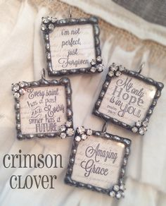 Love the beaded soldering with the addition of rhinestones in the corners! Great job, crimson clover!