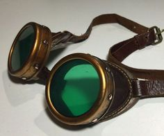Upcycle a cheap pair of costume store plastic goggles into a fantastic pair of Victorian-era Steampunk goggles. I already had most of the tools and some of the supplies to make these, but if you don't - how about having a Steampunk Maker party and splitting the costs with a few of your friends?I started with a pair of plastic goggles with an elastic strap from the costume store - the kind with the screw-on lens holder caps (IMPORTANT - test these at the store to make sure both of them screw…