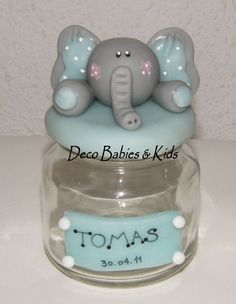Elefante de porcelana fria Baby Shawer, Pasta Flexible, Baby Boy Shower, Shabby Chic, Elephant, Kids, Ely, Biscuit, Anna