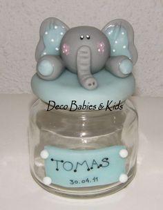 Elefante de porcelana fria Baby Shawer, Pasta Flexible, Clay Creations, Baby Boy Shower, Elephant, Shabby Chic, Creative, Kids, Ely