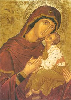 """Icon of the Mother of God of Mt. Athos, """"Sweet Kissing"""" - Print on photo paper and place in frame or paste with modge podge on wooden plaque. This is great for small hands to meditate on the lives of Mother Mary and Jesus Religious Icons, Religious Art, Greek Icons, Church Icon, American Idioms, Byzantine Icons, Holy Mary, Madonna And Child, Blessed Virgin Mary"""