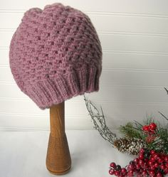 Hand Knit Slouch Hat Rose Pink by WindyCityKnits on Etsy, $25.00 #etsy #pink #valentine #hat #knit #soft #fashion
