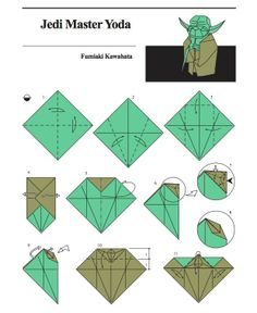 Yoda – Origami Directions