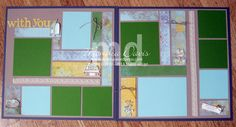 For the Birds scrapbook layout - 2 page 12x12 - Stampin' up!
