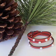 Leather & Pearl Bracelet ! Njewels Christmas Season