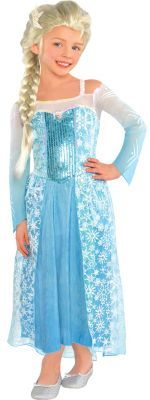 A Frozen Elsa costume fitting of a princess! Disney Elsa dress for girls is inspired by the film, Frozen, and features sheer sleeves and sequins. Elsa Halloween Costume, Anna Costume, Frozen Costume, Costume Dress, Halloween Costumes For Kids, Halloween 2014, Family Halloween, Halloween Stuff, Halloween Ideas
