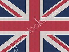 Ravelry: Union Jack - British - UK Flag - Afghan Crochet Graph Chart pattern by YARNHOOKERS.COM