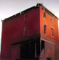 Red House, 2005 | Oil on linen | 68 x 68 inches - Alex Kanevsky