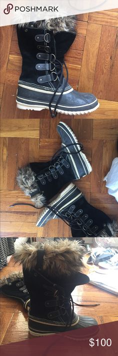Sorry Watetproof Boots Only worn once. Sorel waterproof snow boots, very cute. Sorel Shoes Winter & Rain Boots