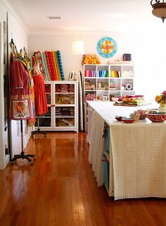 Inspiring Craft and Sewing Rooms