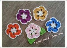 fiori colorati con foglie