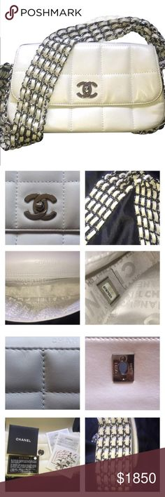 Chanel white classic shoulder bag Chanel classic bag in off white with silver hardware.  No longer sold in stores.  Beautiful bag! Chanel Bags Shoulder Bags