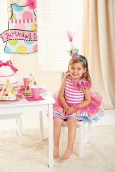 Birthday Dress. Sizes 12-18m, 2T, 3T, 4T, 5T $45.99