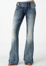 Vigold Premium Extend-Tab Stretch Bootcut Jean. How many things do I like about this jean? It looks soft, is flared, has an off-center closure so there's no rumpling in the front, and a wide waist band. YES.