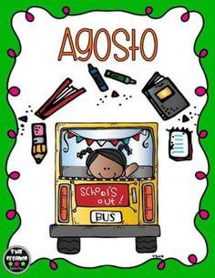 Mes del año portadas (8) Teacher Tools, Teacher Gifts, First Day Of School, Back To School, Kindergarten, Montessori, School Labels, School Items, Binder Covers