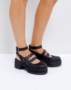6bdf2ad783 Asos OVERLOAD Chunky Buckle Platforms Pump Shoes, Women's Shoes, Dress  Codes, Cleats,