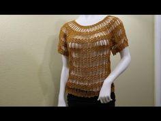 Hermosa Blusa con Bucles de Cadenas / Tutorial Crochet   Crochet y Dos agujas