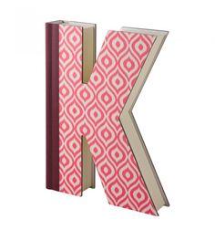 Libro decorativo letra K